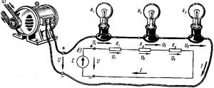 Рис. 25. Схемы последовательного соединения приемников