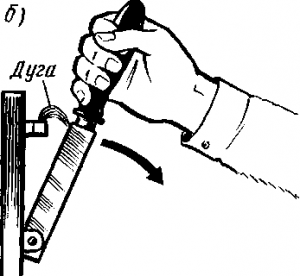 Рис. 64. Возникновение перенапряжения (о) и образование дуги (б) при размыкании электрических цепей с индуктивностью