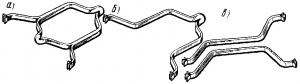 Рис. 85. Общий вид якорных катушек: а, б - при многовитковых и одновитковых секциях; в - при обмотке с разрезными секциями