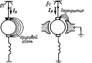 Рис. 108. Образование кругового огня на коллекторе